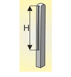Столб стандартный 0,5 м